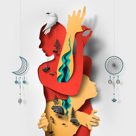 New Editorial Illustrations Incorporating Cut Paper Textures and Shadows by Eiko Ojala   Amazing art!   Scoop.it