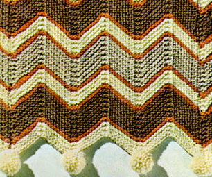 Roman Stripe Afghan Pattern | Knitting Patterns | Needle and Hook Patterns-all free | Scoop.it