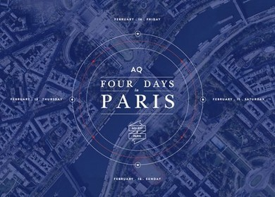 Four Days In Paris and 14 Other Flat Design Examples Inspire | RDV Weekly | Scoop.it