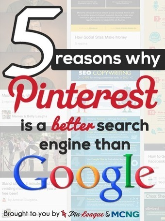 5 Reasons Pinterest's Search Engine Is Better Than Google's | Self Promotion | Scoop.it