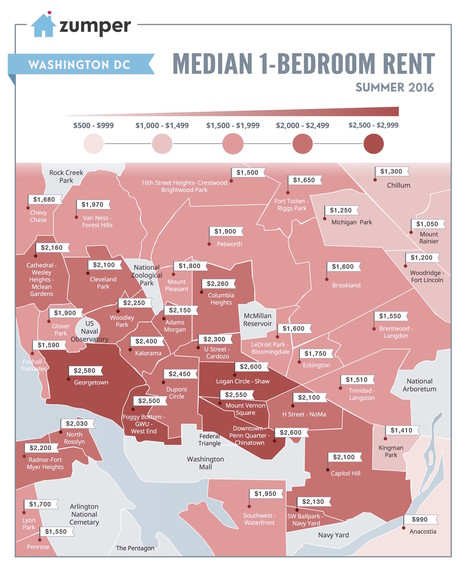 Mapping DC Rent Prices This Summer (June 2016)The Zumper Blog | Resource Sources | Scoop.it
