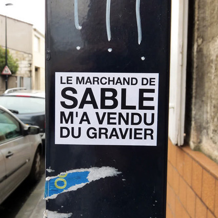 Le marchand de sable m'a vendu du gravier | TrendsArt | Scoop.it