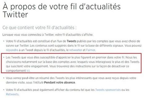 Twitter : Comment désactiver la chronologie inversée des Tweets par défaut | Social Media, etc. | Scoop.it