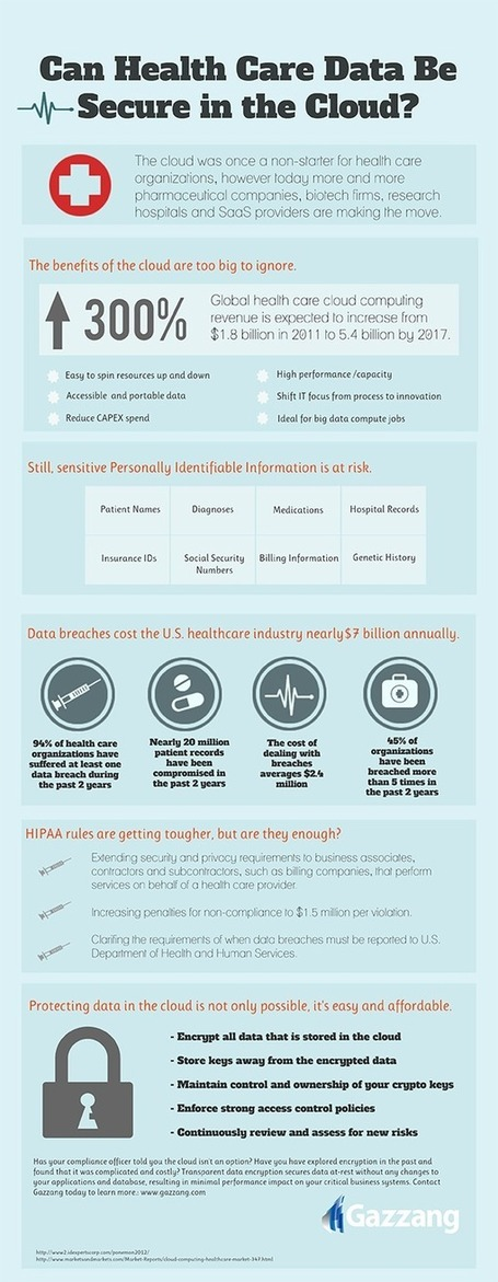 INFOGRAPHIC: Can Health Care Data Be Secure in the Cloud? | Cloud Central | Scoop.it