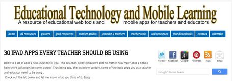 30 iPad Apps Every Teacher Should Be Using ~ Educational Technology and Mobile Learning | ICT Nieuws | Scoop.it
