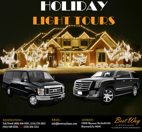 Holiday Light Tours - Best Way Limos | Airport Transportation Services California | Scoop.it