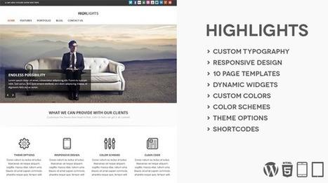 Highlights A Multipurpose WordPress Theme - Wpthemetuts | Latest Wordpress Themes | Scoop.it