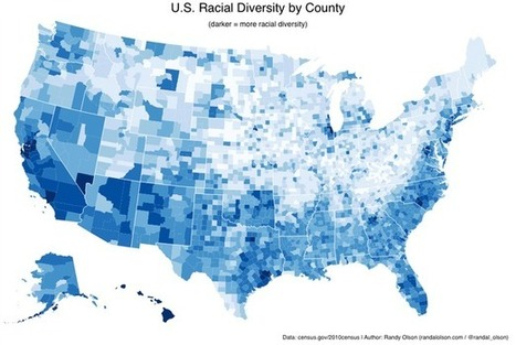 The 5 U.S. Counties Where Racial Diversity Is Highest—and Lowest | Geography | Scoop.it