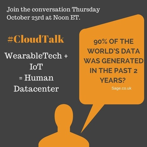 WearableTech + IoT = Human Data Center on #CloudTalk   Cloud Talk not just for Techies   Scoop.it