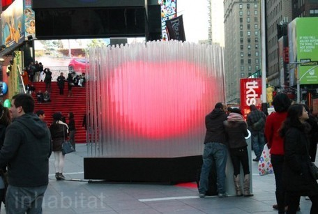 BIG Brings the Love to Times Square With a Pulsing 10-Foot Tall LED Heart Sculpture | Inhabitat New York City | FASHION & LIFESTYLE! | Scoop.it