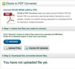 EbookConverter. Convertisseur universel d'ebooks | Les outils du Web 2.0 | Scoop.it