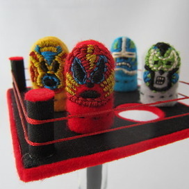 Mexican Thumb Wrestler Puppets and Arena - Instructables | Poetic Puppets | Scoop.it