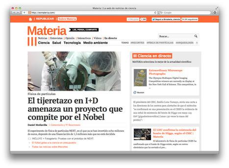 Materia | La web de noticias de ciencia | Didáctica e Innovación en Ciencias Naturales | Scoop.it