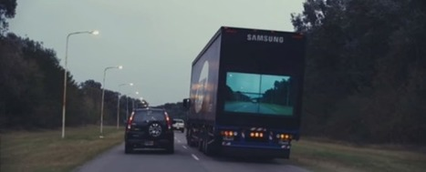 "Samsung Make ""See Through"" Trucks That Are Safer to Pass- simple and useful 