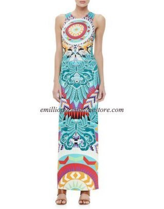 2014 EMILIO PUCCI Multicolor Printed Column Maxi Dress [Printed Column Maxi Dress] - $205.99 : Emilio pucci dress sale online outlet,60% off & free shipping! | fashion things | Scoop.it