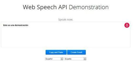 Google Chrome se actualiza, permitiendo el reconocimiento de voz a las aplicaciones web | Educación a Distancia y TIC | Scoop.it