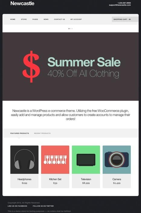 20 Thèmes Wordpress pour créer un site e-commerce en Avril | Actus WORDPRESS | Scoop.it
