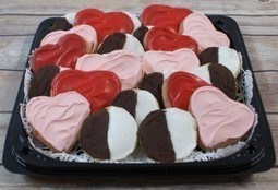 Hearts and Stripes Cookie Tray | Valentine Special | Ingallina's Box Lunch Seattle | Holiday Special | Scoop.it