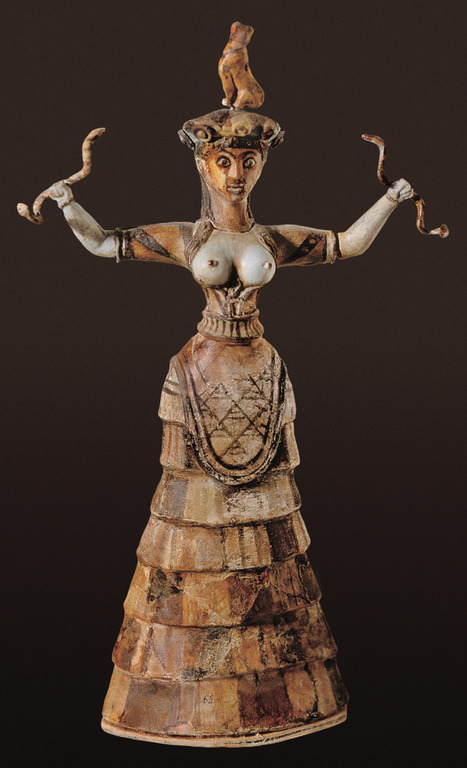 """He has a wife you know"" — fuckyeaarthistory: Snake Goddess from Knossos c.... 
