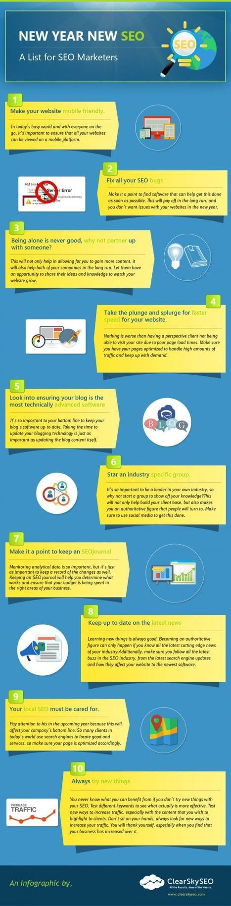 New Year New SEO - A List for SEO Marketers | ClearskySEO Links | Scoop.it