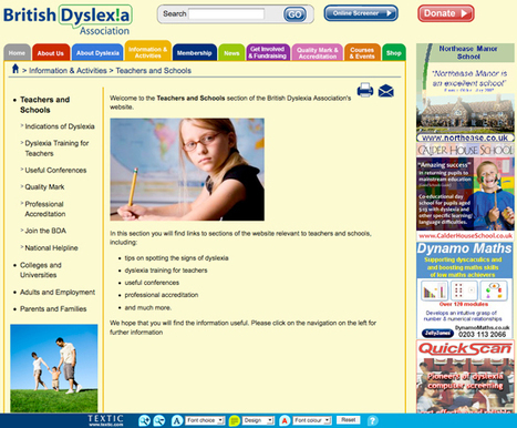 Considering how to design websites friendly to dyslexics: Usability versus Dyslexia | Students with dyslexia & ADHD in independent and public schools | Scoop.it