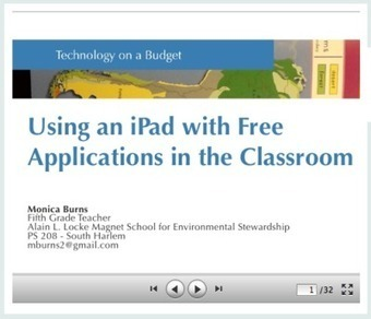 Using an iPad with Free Applications in the Classroom   iPad Apps for Education   Scoop.it