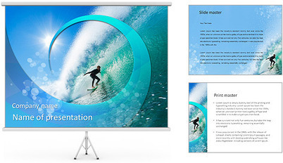 Windsurfer PowerPoint Templates & Backgrounds - SmileTemplates.com | fun | Scoop.it