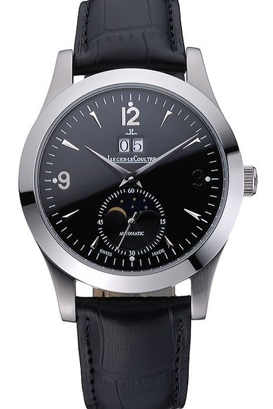 Replica Jaeger LeCoultre Master Black Dial Black Leather Band Watch | Men's & Women's Replica Watches Collection Online | Scoop.it