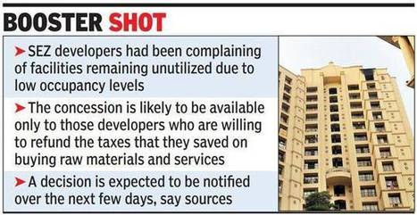 Outsiders set to get access to schools, hospitals, flats in SEZs - The Times of India | Real Estate | Scoop.it