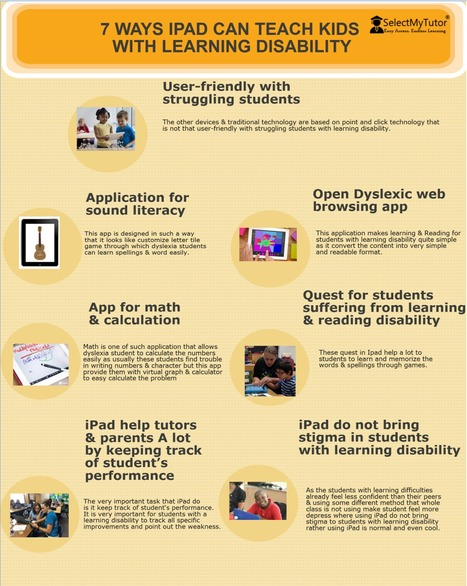 7 Ways IPAD can teach kids with learning disability | SelectMyTutor | Scoop.it