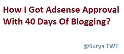 How I Got The Adsense Approval With 40 Days Of Blogging? | SEO | Scoop.it