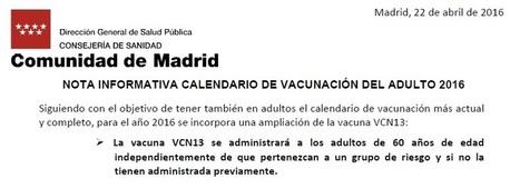 Los adultos mayores de 60 años se beneficiarán en Madrid de la Vacuna VNC13   Daniel Ocaña   Scoop.it