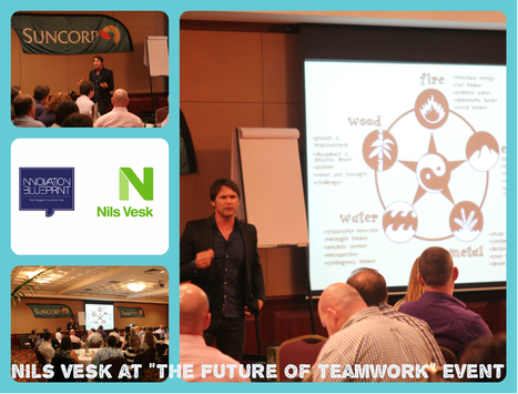 """Nils Vesk @ the """"Future of Teamwork"""" event. 