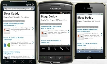 Test How Your Website Looks On Mobile Phones? - Blogs Daddy | Blogger Tricks, Blog Templates, Widgets | Scoop.it