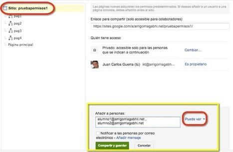 Permisos en un Google Site para trabajar colaborativamente│@EnlanubeTIC | google + y google apps | Scoop.it