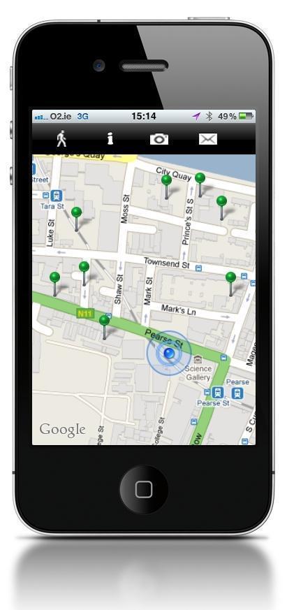 WalkSpace: walking art app for the iphone   Locative Media   Scoop.it
