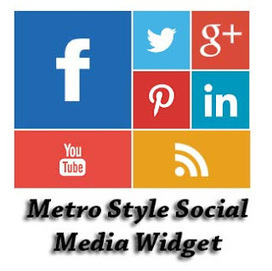 Metro Style Social Media Widget For blogger | Blogger Trix | Blogger Tips and Tricks | Free Templates | Online marketting | Scoop.it