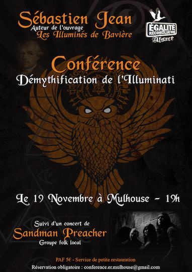Démythification de l'Illuminati – Conférence de Sébastien Jean à Mulhouse le 19 novembre | Strasbourg Alsace Express | Scoop.it