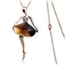 Exquisite Lovely Ballet Girl Crystal Necklaces,Coat Chains A0168 | fashion and cheap jewelry | Scoop.it