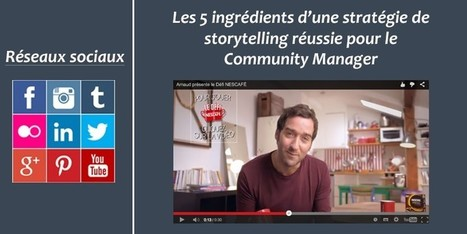 Les 5 ingrédients d'une stratégie de storytelling réussie pour le Community Manager   Institut Pellerin - Formation   curator   Scoop.it