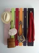 Colorful DIY Coat Rack From A Wood Pallet | Shelterness | Wood Pallets | Scoop.it