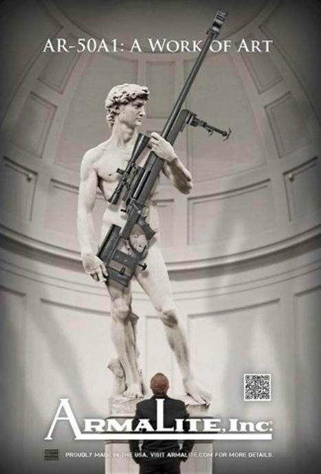 Polémique autour du David de Michel-Ange dans une pub américaine pour les armes | Un peu de tout et de rien ... | Scoop.it