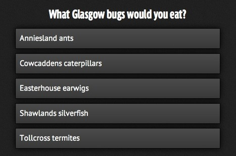 Glasgow children would rather eat bugs from garden than greens - according to breakfast cereal firm | Entomophagy: Edible Insects and the Future of Food | Scoop.it