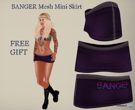 Mini Skirt by Banger Island Creations | Teleport Hub - Second Life Freebies | Second Life Freebies | Scoop.it