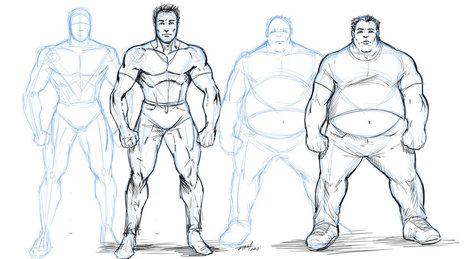 Come disegnare personaggi in sovrappeso   Circolo d'Arti   Scoop.it