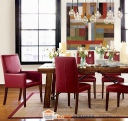 Bright red accents in the dining room   Home decoration   Scoop.it