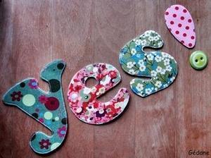 I ♥ les lettres en tissu #idée #DIY | Best of coin des bricoleurs | Scoop.it
