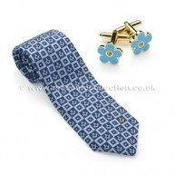 Forget me Knot Silk Tie & matching Cufflinks | Masonic Gifts | Scoop.it