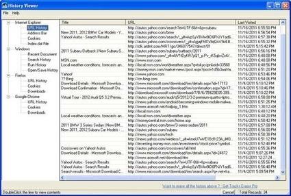 Visualiser l'historique de tous les navigateurs et de Windows, History Viewer | Time to Learn | Scoop.it