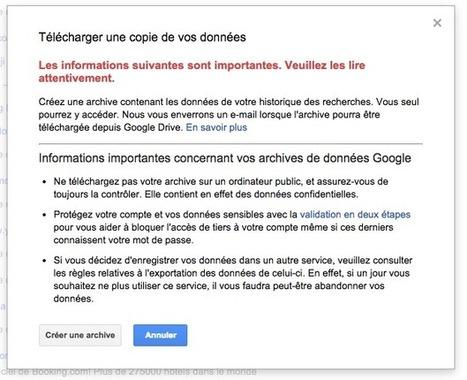 Votre historique de recherches Google est désormais téléchargeable - Actualité Abondance | La curation en communication web | Scoop.it